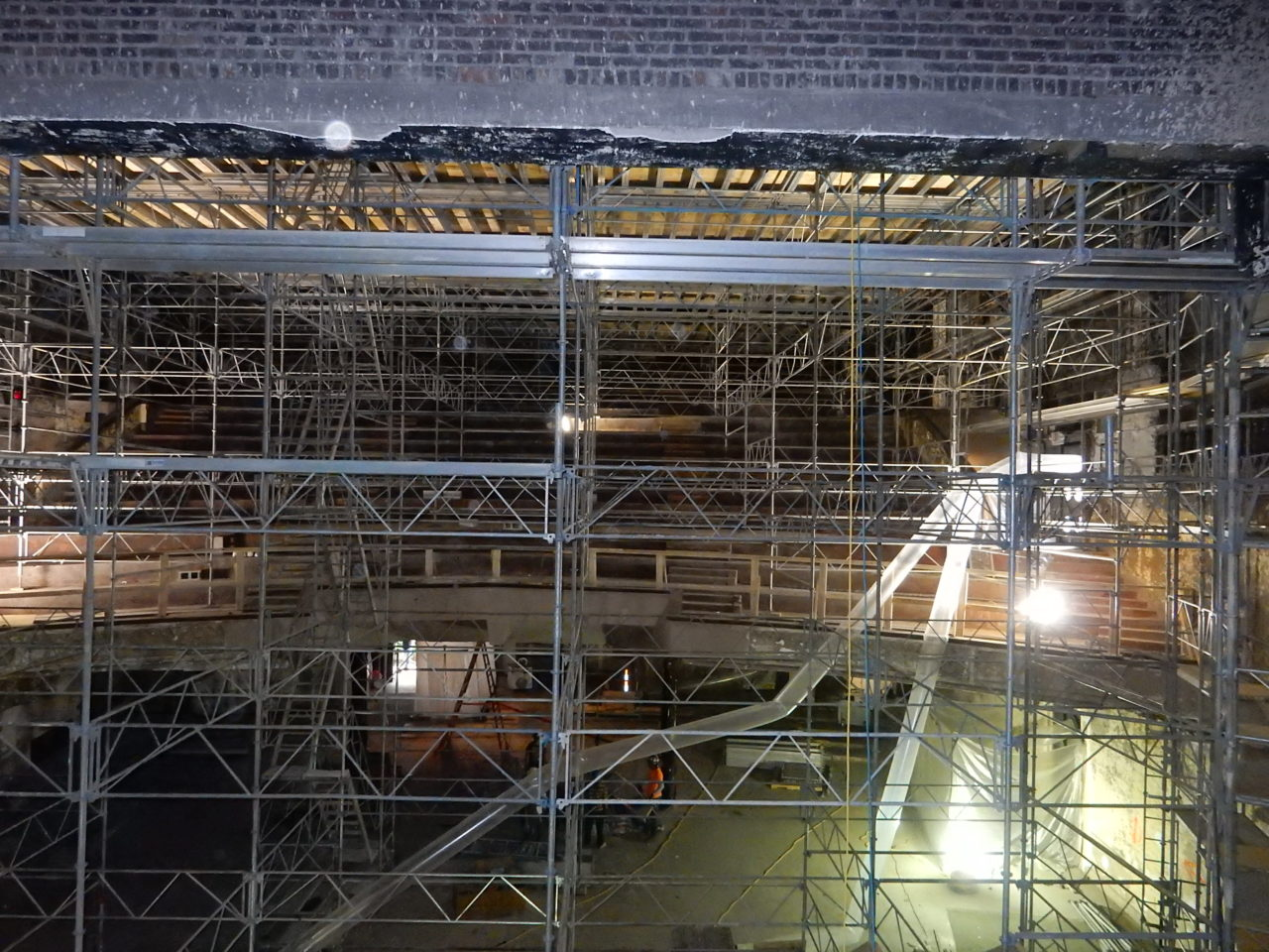 Full to the brim with abatement scaffolding - Fall 2017