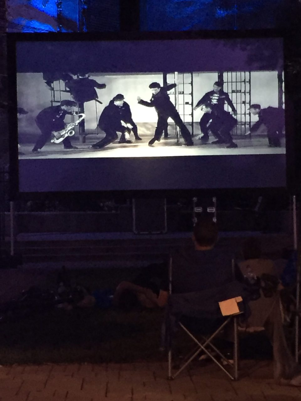 Jail House Rock playing at the Carolina Theatre Park during our event, Movies Under the Stars - 2017