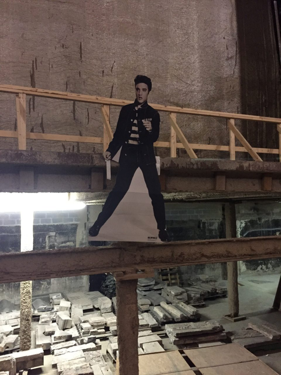 Elvis is in the house! We used a life size Elvis to test sight lines in the theatre